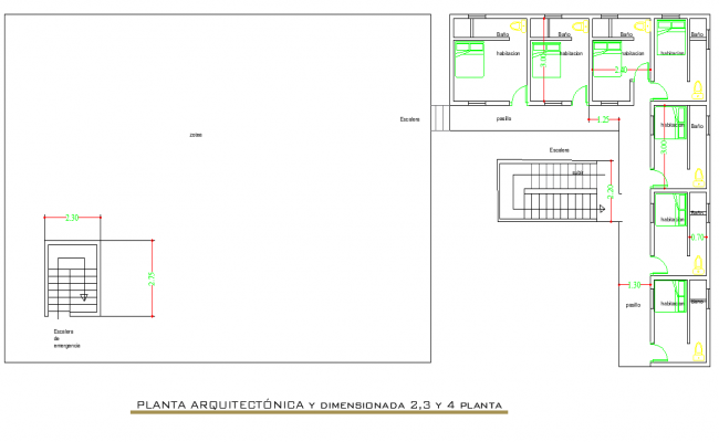 Planning house plan dwg file