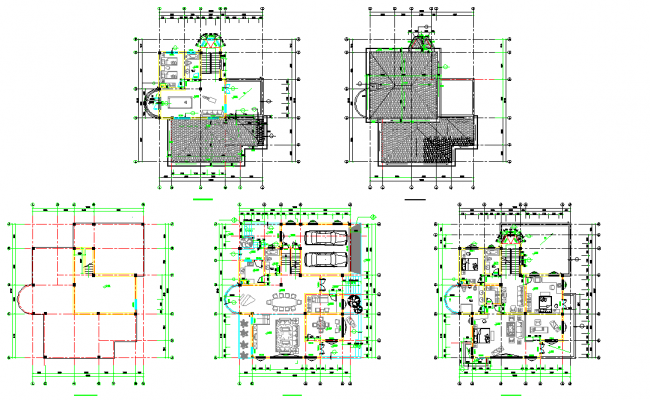 Planning multi family housing detail dwg file