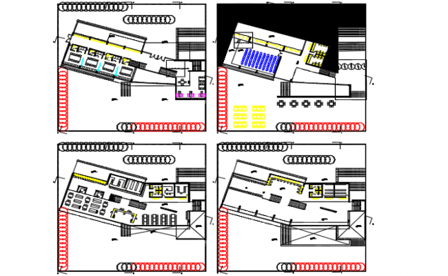 Planning of library detail dwg file