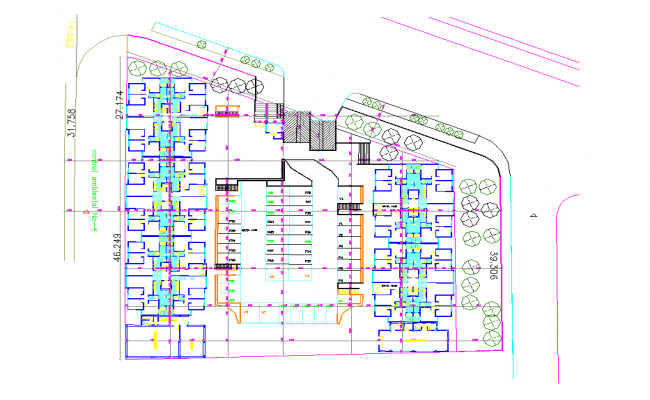 Planning project of housing autocad file