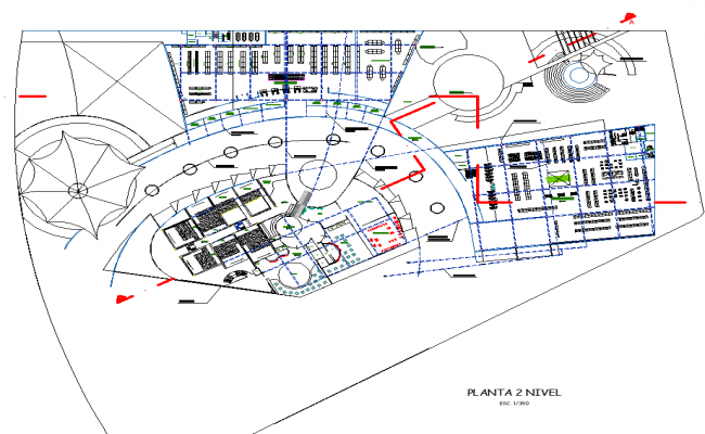 Shopping Center Plan Free AutoCAD Drawings