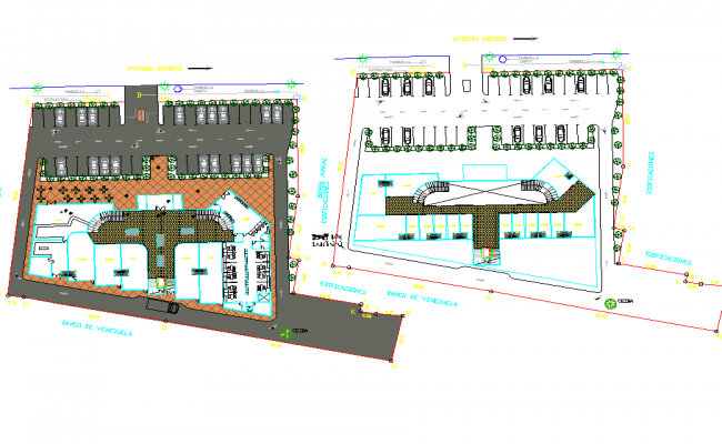 Planning shopping mall dwg file