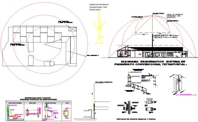 Planning slaughterhouse Cuba detail dwg file