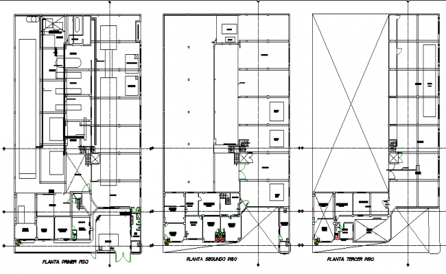 Planning textile factory plan detail dwg file