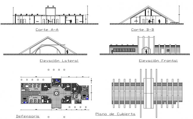 Plans of office in autocad