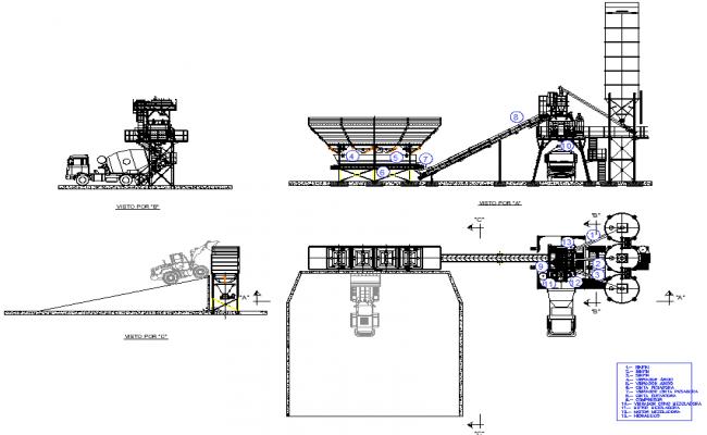 Plant concrete manufacturing hormign detail dwg file