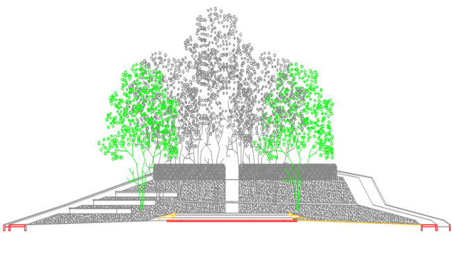 Plant elevation detail dwg file