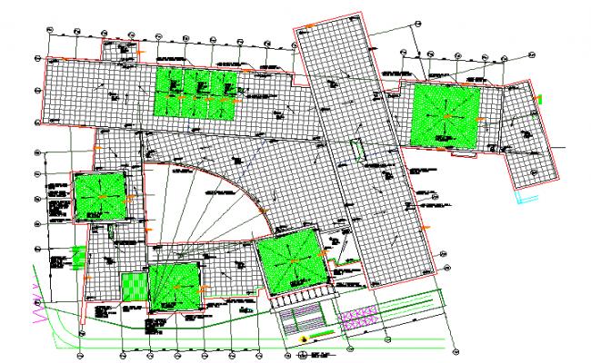 Plantation layout plan dwg file