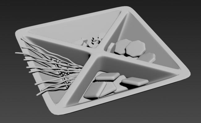 Plate For Dining Table 3D MAX File Free