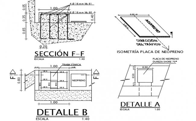 Plate bridge section detail dwg file