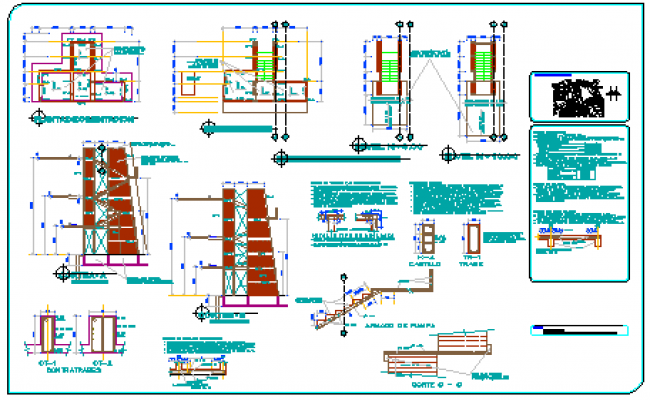 Platform Of Swimming Pool Design Drawing