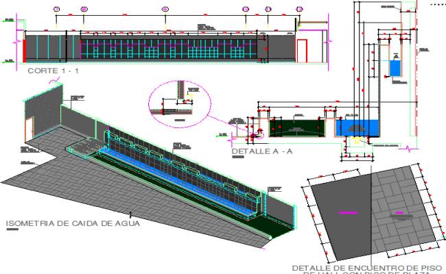 Platinum square empresarial center auto-cad details dwg file
