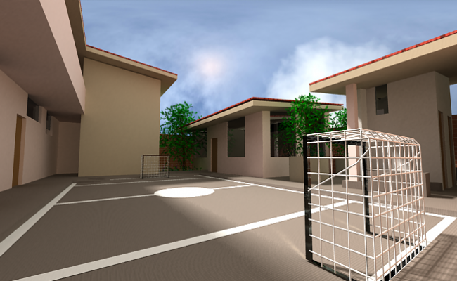 Play court area of college dwg file