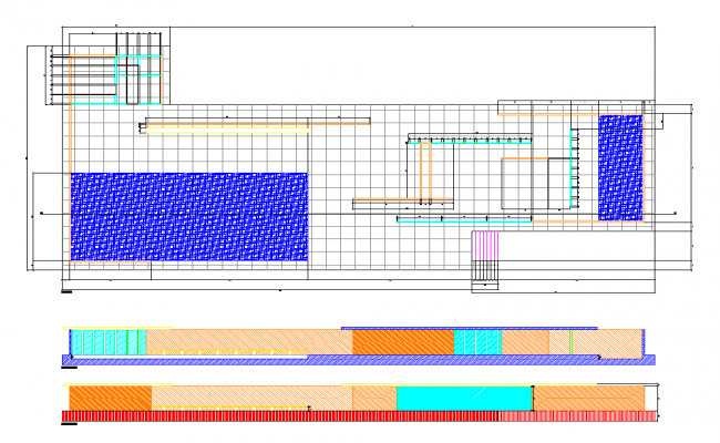 Playground detail elevation and plan 2d view layout file