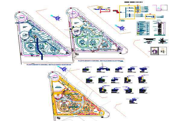 Playground plan view detail with structure specifications detail dwg file