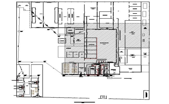 Plot Fish processing plant expansion plans detail dwg file