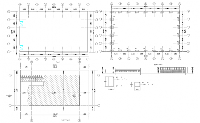 Plot Size & column design