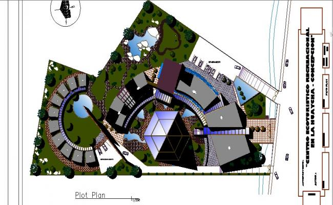 Plot and distribution plan details of luxuries hotel dwg file