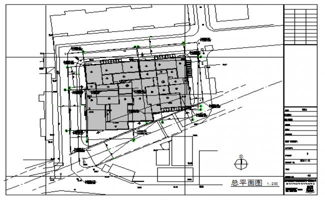 Plot area design drawing of Housing design