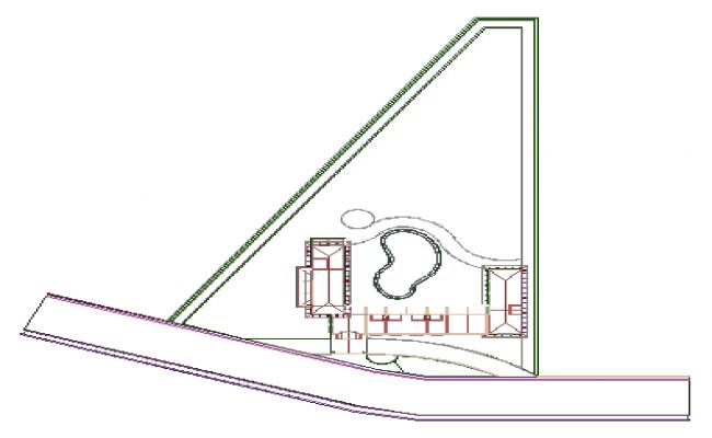 Plot design drawing of Resort designing