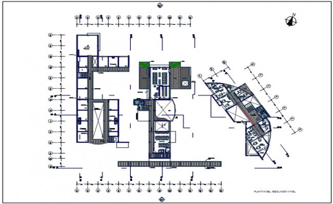 Plot detail in center line plan detail dwg file