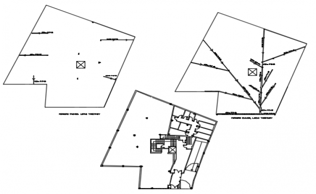 Plot layout plan detail dwg file
