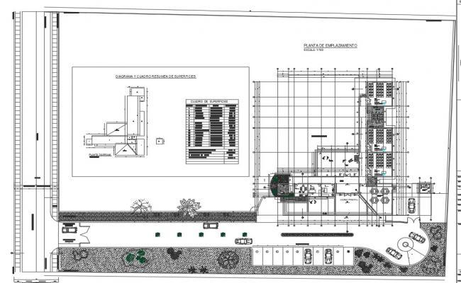 Plot plan detail dwg file