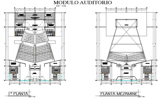 Plot planing civic center plan autocad file
