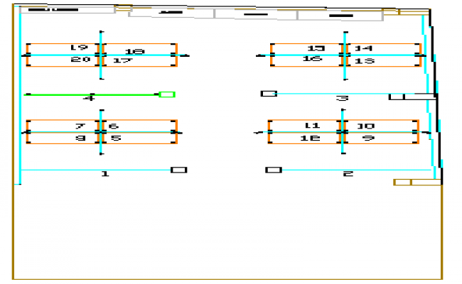 Plotting design drawing of offices