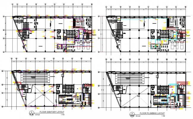 Plumbing And Sanitary Layout Plan DWG File