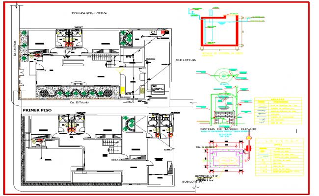 Plumbing Installation plan dwg file – Floor Plan With Plumbing Layout