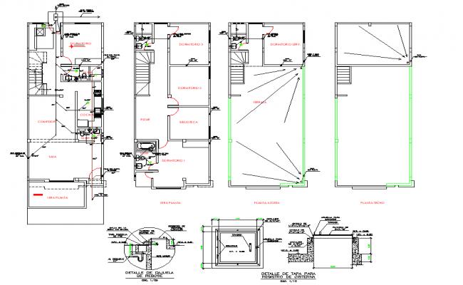 Plumbing Water pipe line home plan detail dwg file