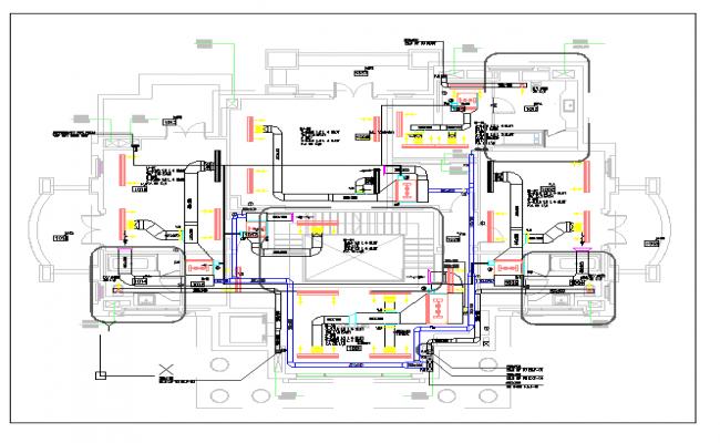 Plumbing detail of a house with floor plan dwgfile – Residential Plumbing Plan