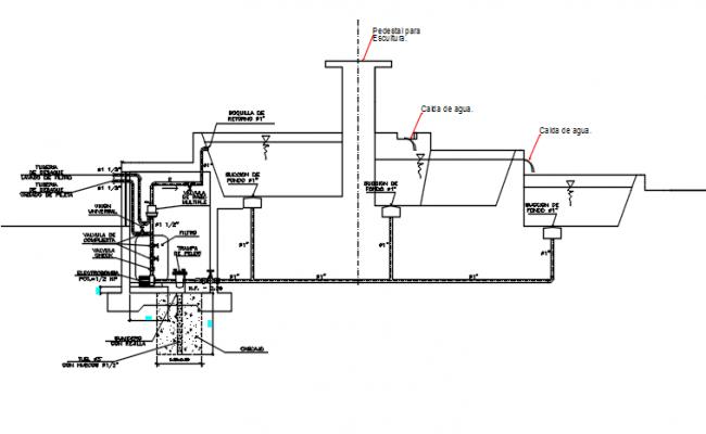 Plumbing line detail dwg file