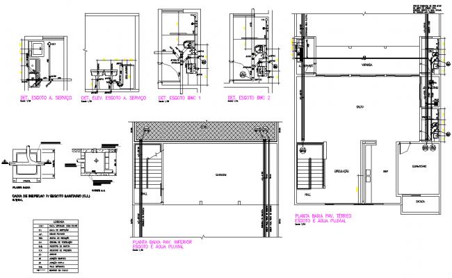 Plumbing pipe line house detail dwg file