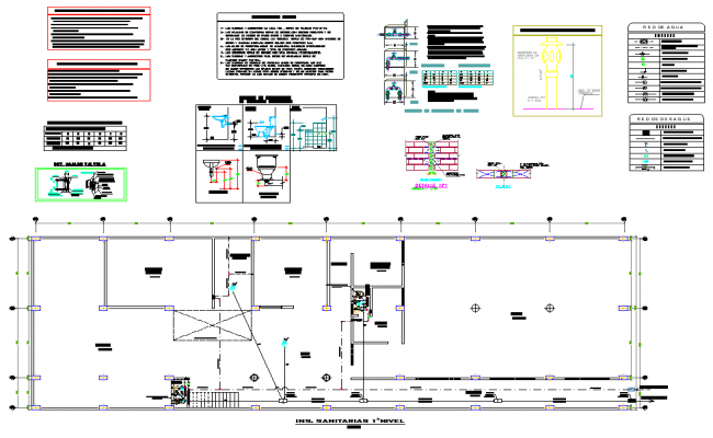 Plumbing plan house detail autocad file