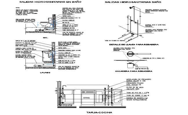 Plumbing sanitary Toilet section plan autocad file