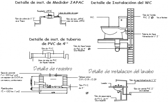 Plumbing sanitary detail dwg file