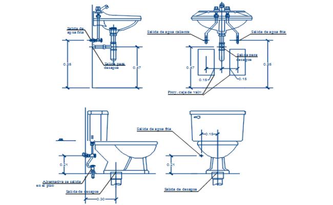 Plumbing sanitary elevation detail dwg file