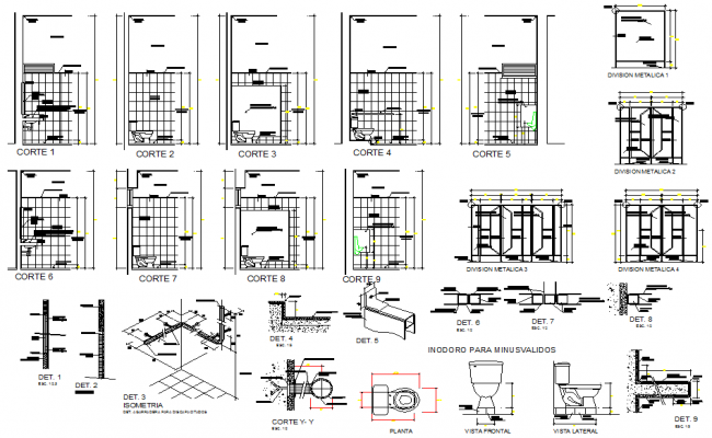 Plumbing sanitary plan and elevation detail dwg file