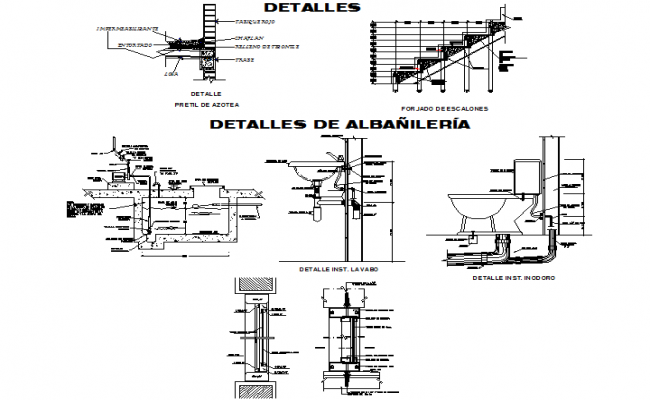 Plumbing sanitary section detail dwg file