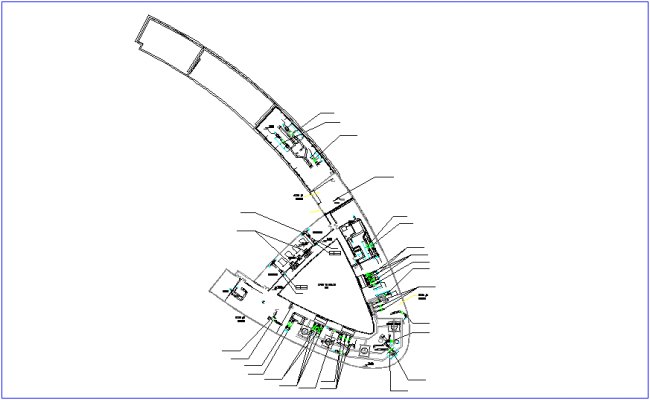 Plumbing view with outdoor cooling tower for apartment dwg file