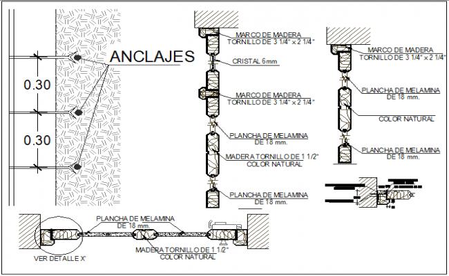 Plumbing water connections detail view dwg file