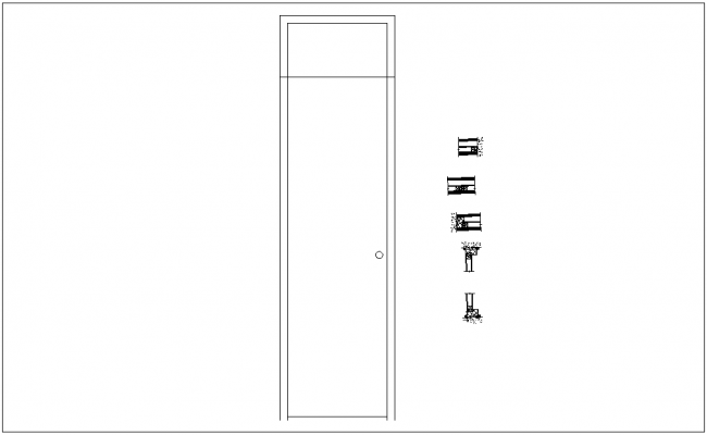 Plywood door section view dwg file