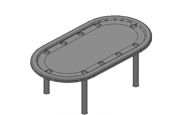 Poker table 3d elevation concept