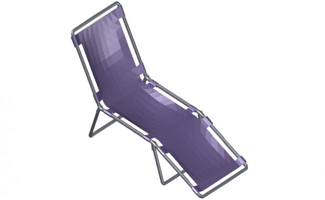 Pool Side Relaxing Chair 3d Furniture CAD Block
