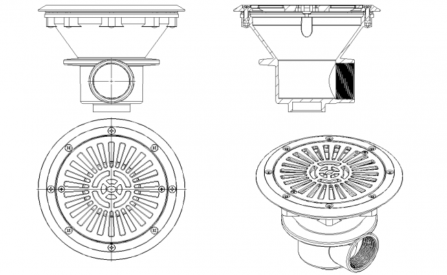 Pool drain detail autocad files