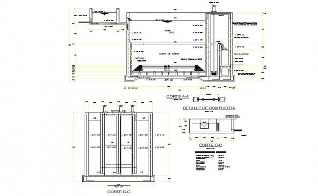 Potable water latrines plan layout file