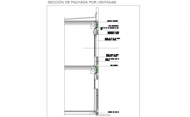 Pre-cast façade plan detail dwg file.