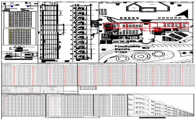 Pre dimensioning structure hotel